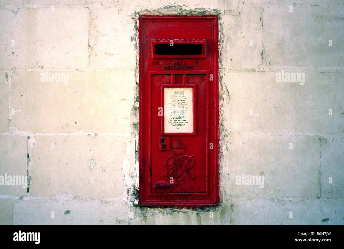 April 7, 2004 - British colonial heritage in the Maltese capital of Valletta. Stock Photo