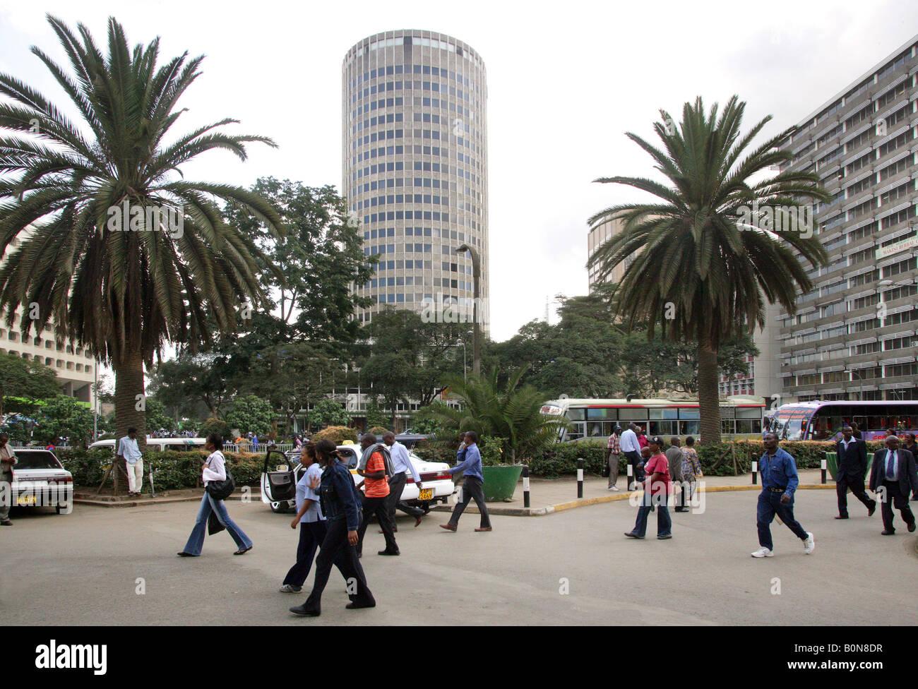 Kenya: City of Nairobi with Hilton Hotel (middle) - Stock Image