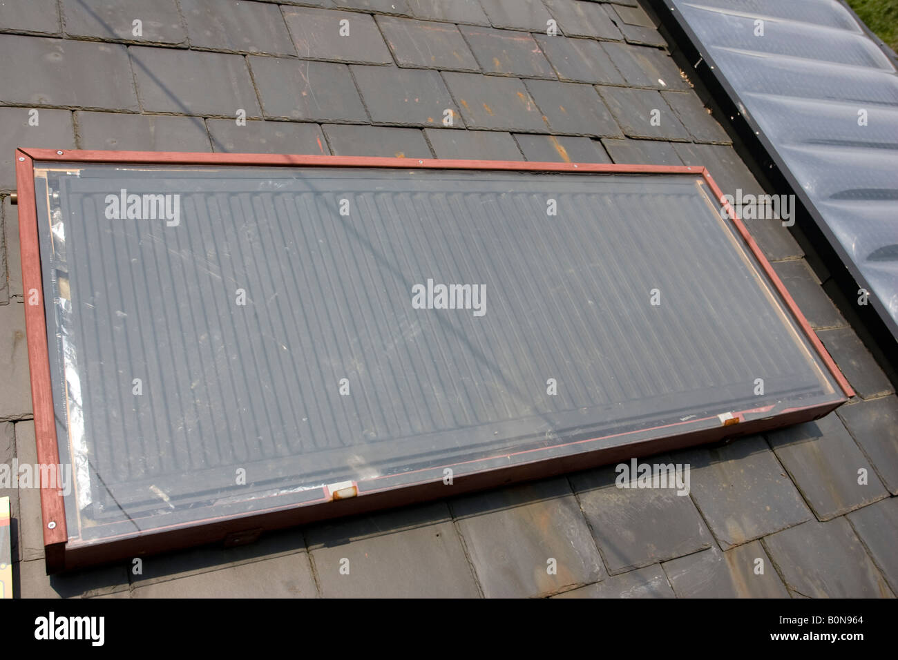 Charming DIY Homemade Solar Thermal Panel On Roof Centre For Alternative Technology  Machynlleth Wales UK
