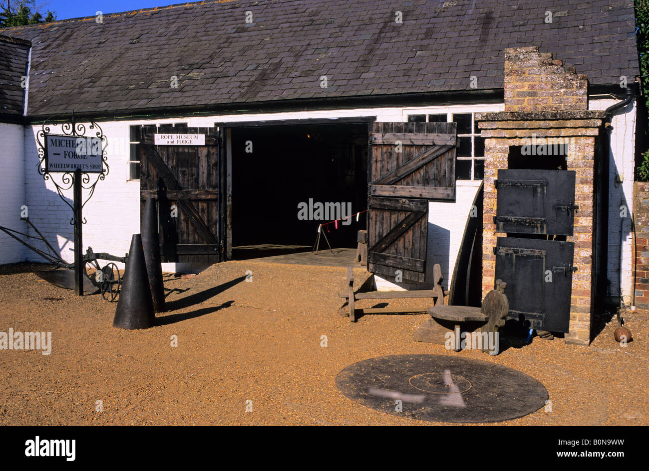 Rope museum and forge at Michelham Priory Sussex England UK - Stock Image