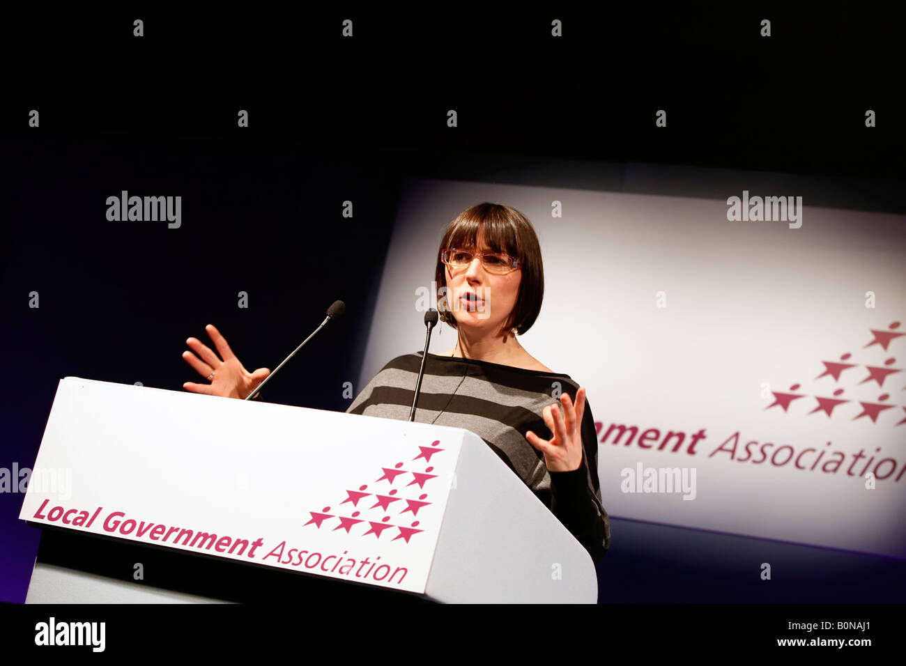 Julia Goldsworthy MP addressing the Local Government Association conference - Stock Image