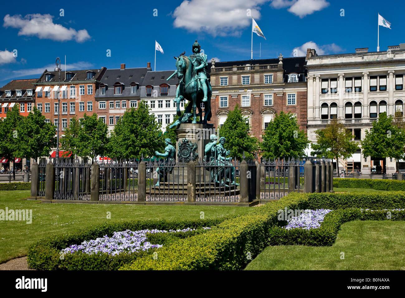 Kongens Nytorv in the center of Copenhagen - Stock Image