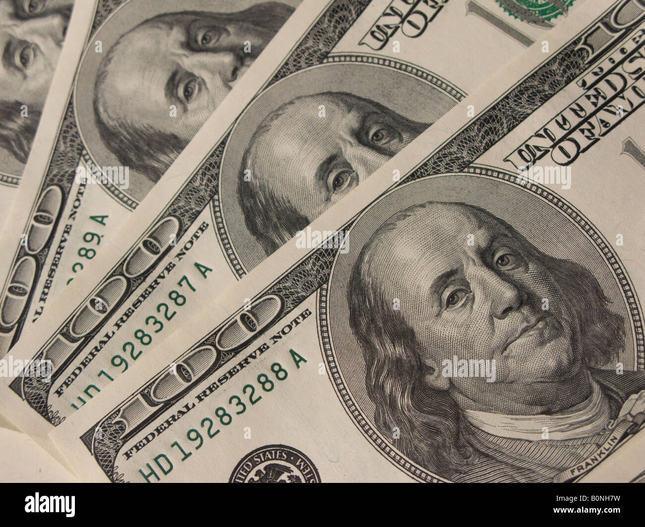 banknote one hundred dollars - Stock Image