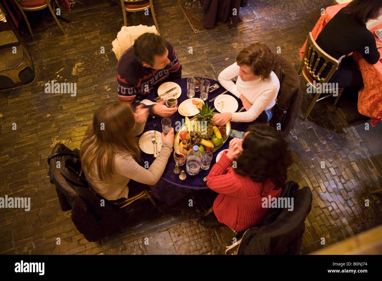Dinner diners at Sarastro restaurant. Drury Lane, Covent Garden. London. UK. - Stock Image