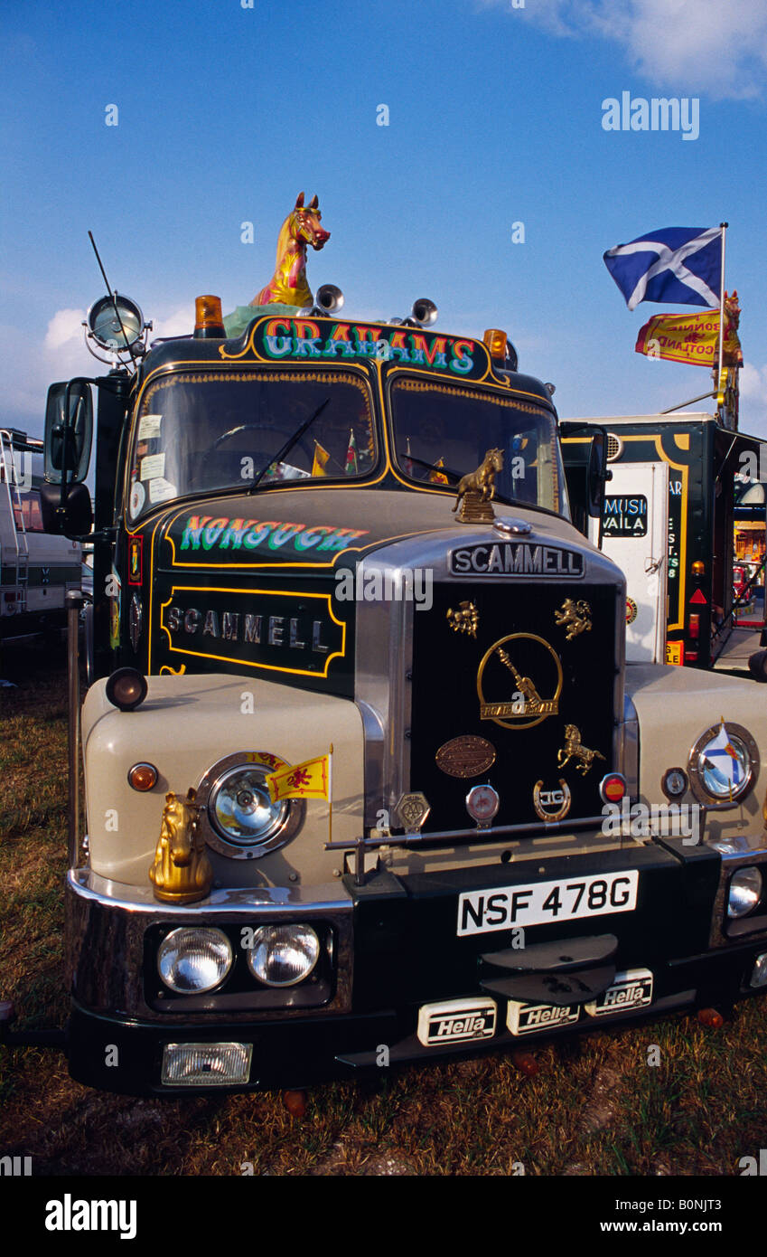 Scamell Highwayman Showmans Special at the Great Dorset Steam Fair 2004 - Stock Image