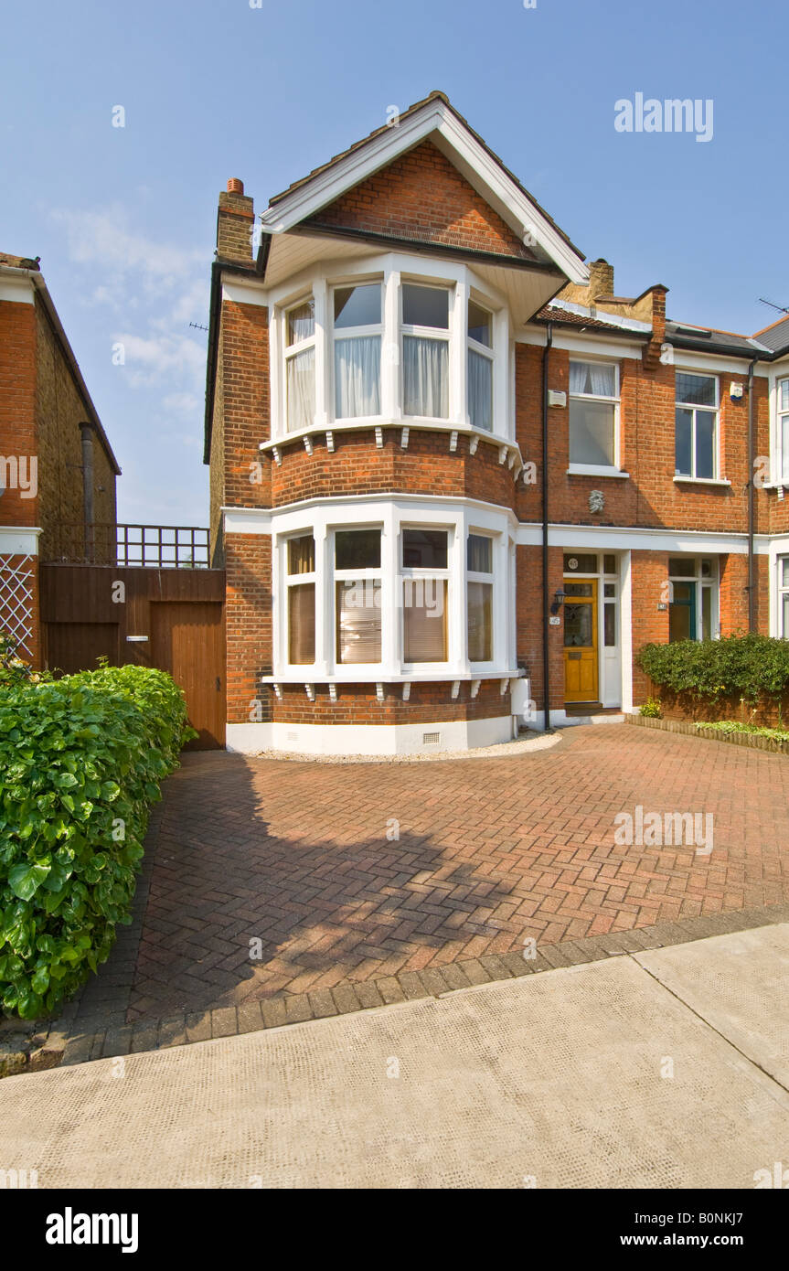 A Typical 3 Bed Semi Detached Victorian/Edwardian House In Suburbia With A  Paved Drive