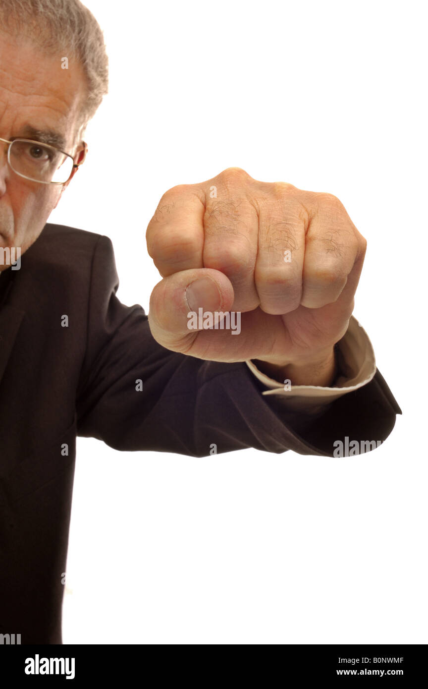 On the receiving end of a punch - Stock Image