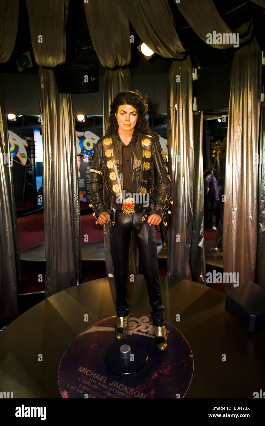 Michael Jackson Hollywood Guinness World of Records Museum Los Angeles California United States of America - Stock Image