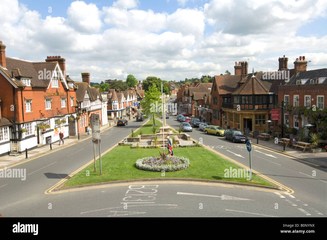 Haslemere High Street looking North, Surrey, UK Stock Photo