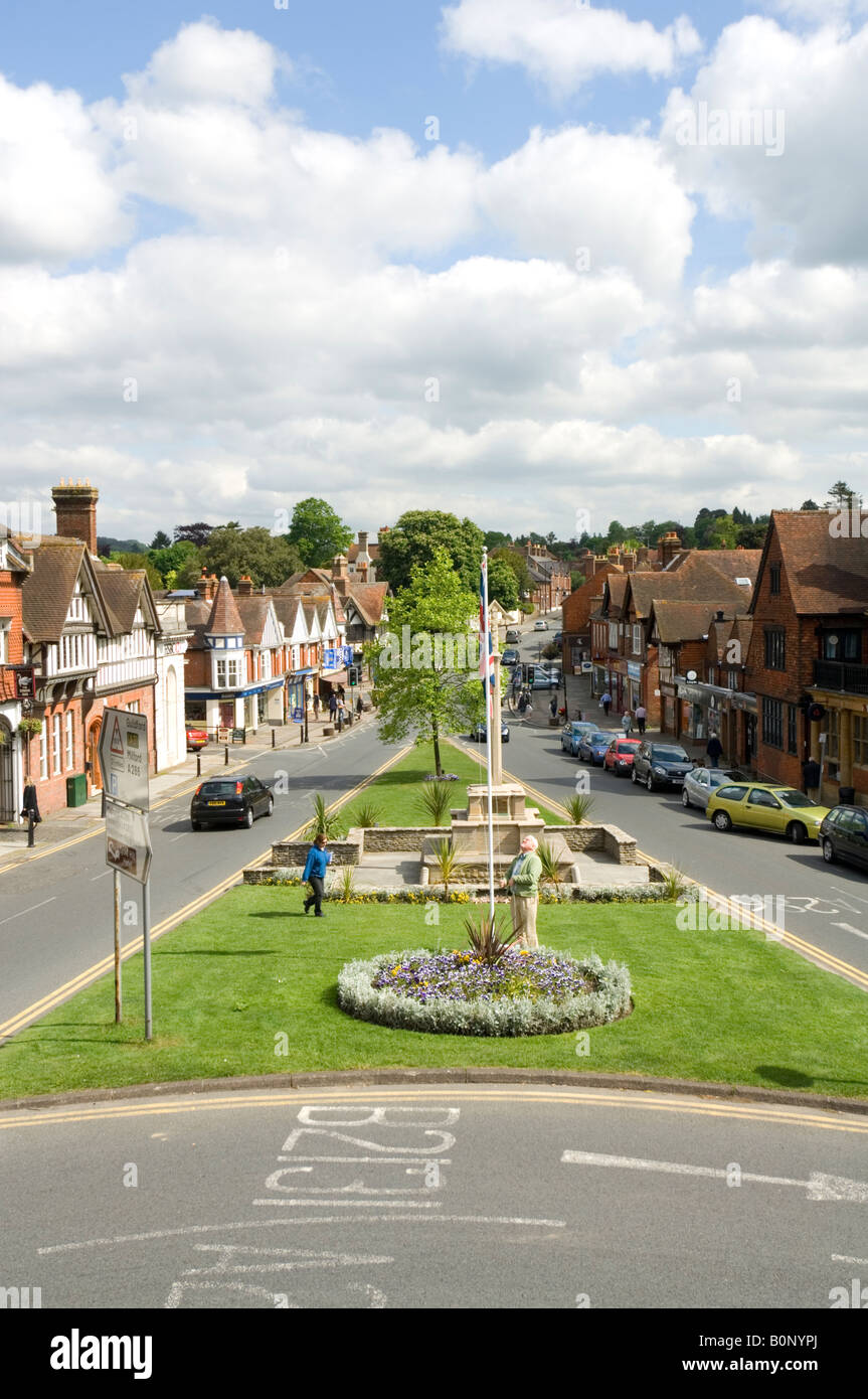 Haslemere High Street looking North Surrey UK Stock Photo