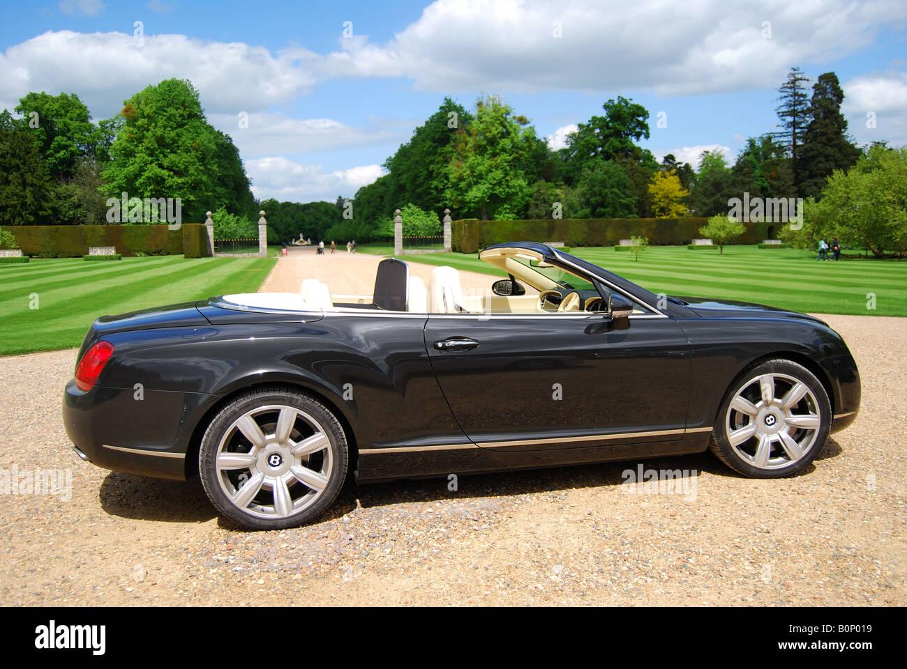 Bentley Azure convertible, Cliveden, Buckinghamshire, England, United Kingdom - Stock Image