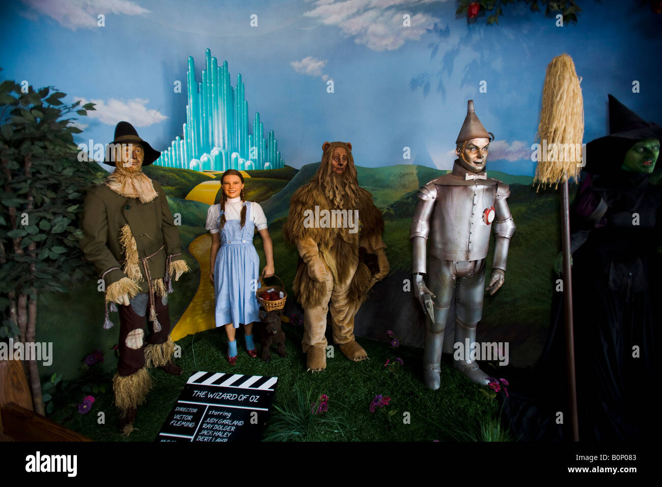 The Wizard of Oz Hollywood Wax Museum Hollywood Los Angeles California United States of America - Stock Image