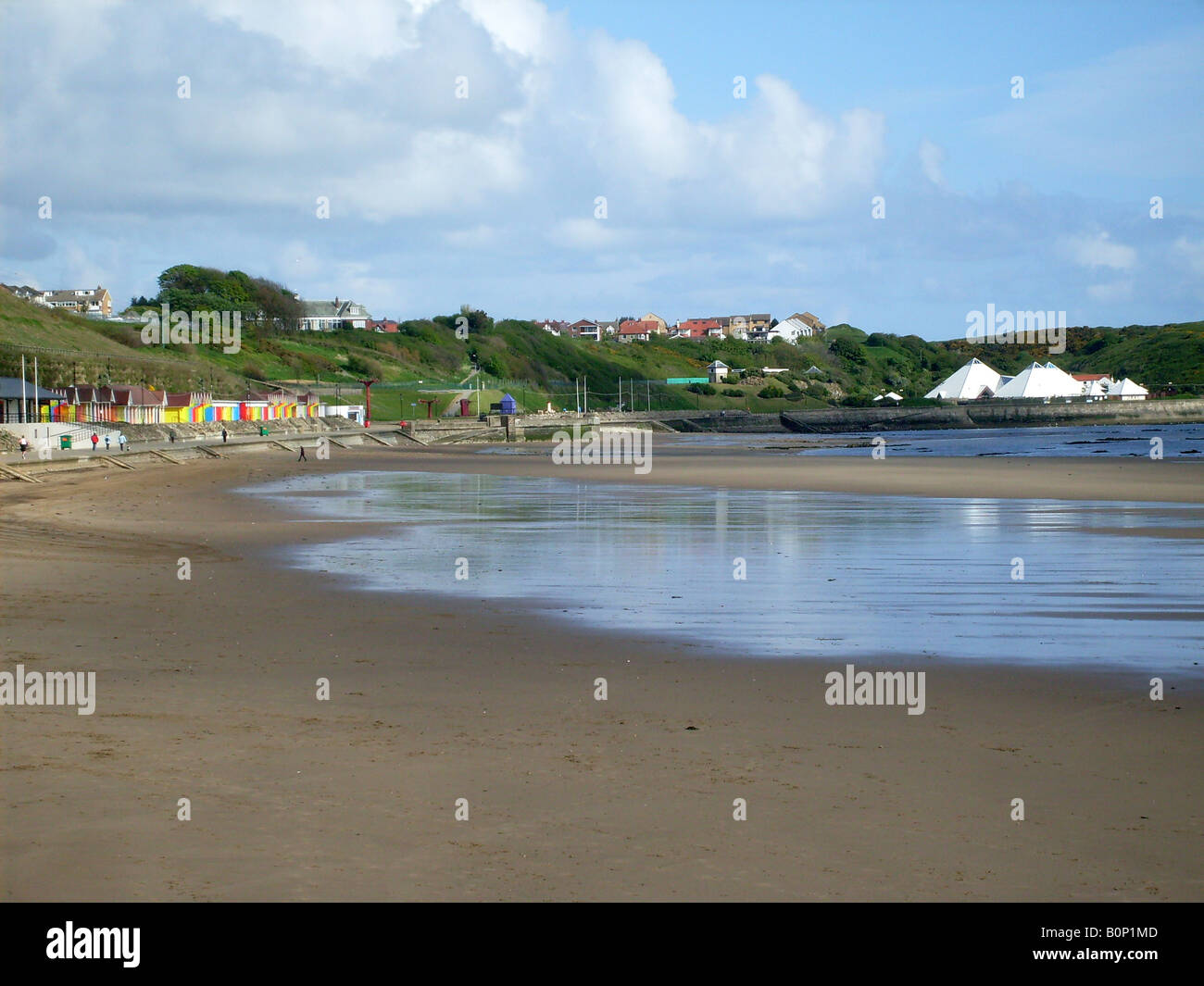 General view of Scarborough North Bay beach, Scarborough, North Yorkshire, England. - Stock Image