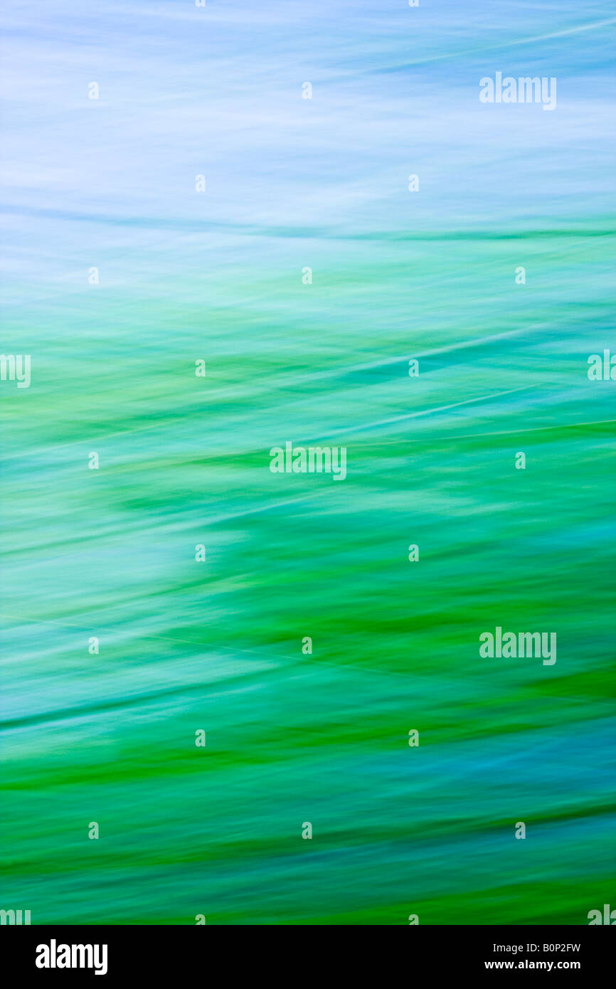 Abstract Art Image Representing Sky Cloud and Green Landscape. - Stock Image