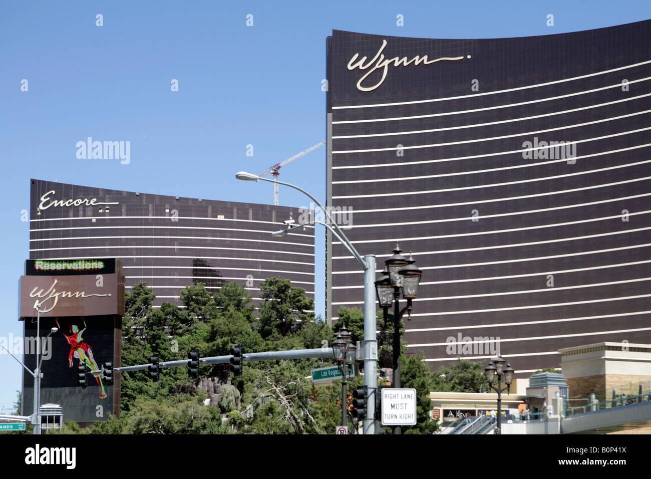 The Wynn Hotel Las Vegas With The New Encore Hotel Behind Under Stock Photo Alamy