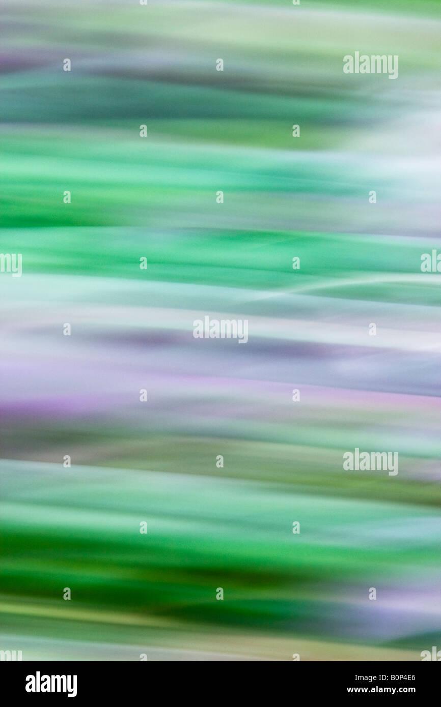Abstract Art Image Depicting Natural Greens, Pink & Mauve - Stock Image