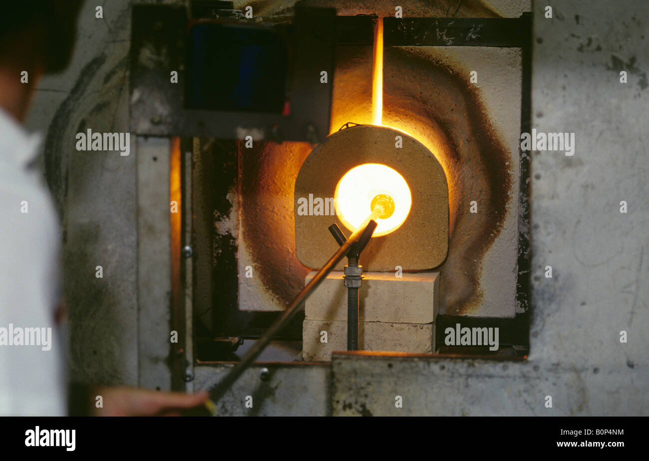 Crystal Making, Waterford Crystal Factory, Ireland - Stock Image