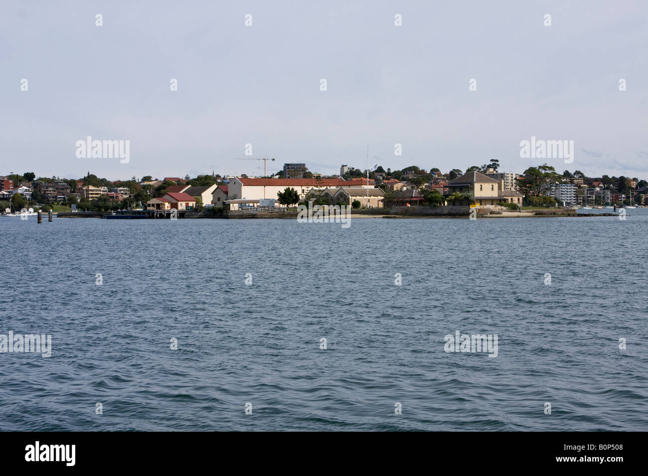 Spectacle Island in Sydney Harbour. - Stock Image