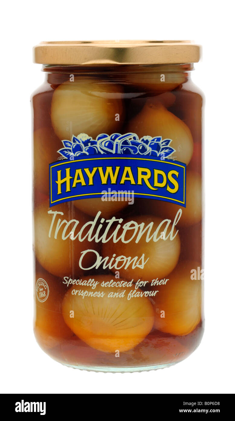 Jar of Haywards Pickled Onions Stock Photo: 17698388 - Alamy