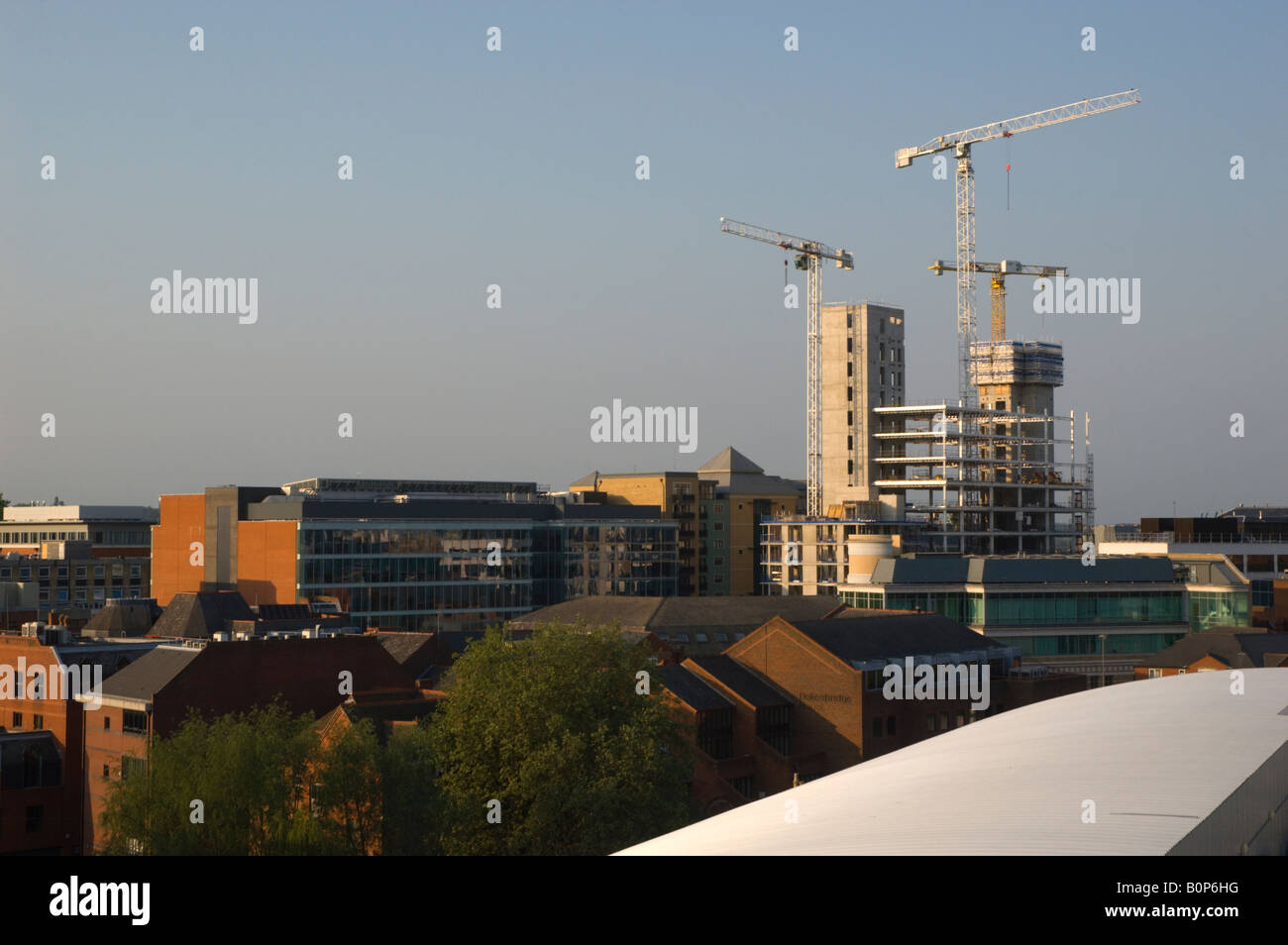 Construction of Abbey Mill House, Reading, Berkshire 2/2 - Stock Image