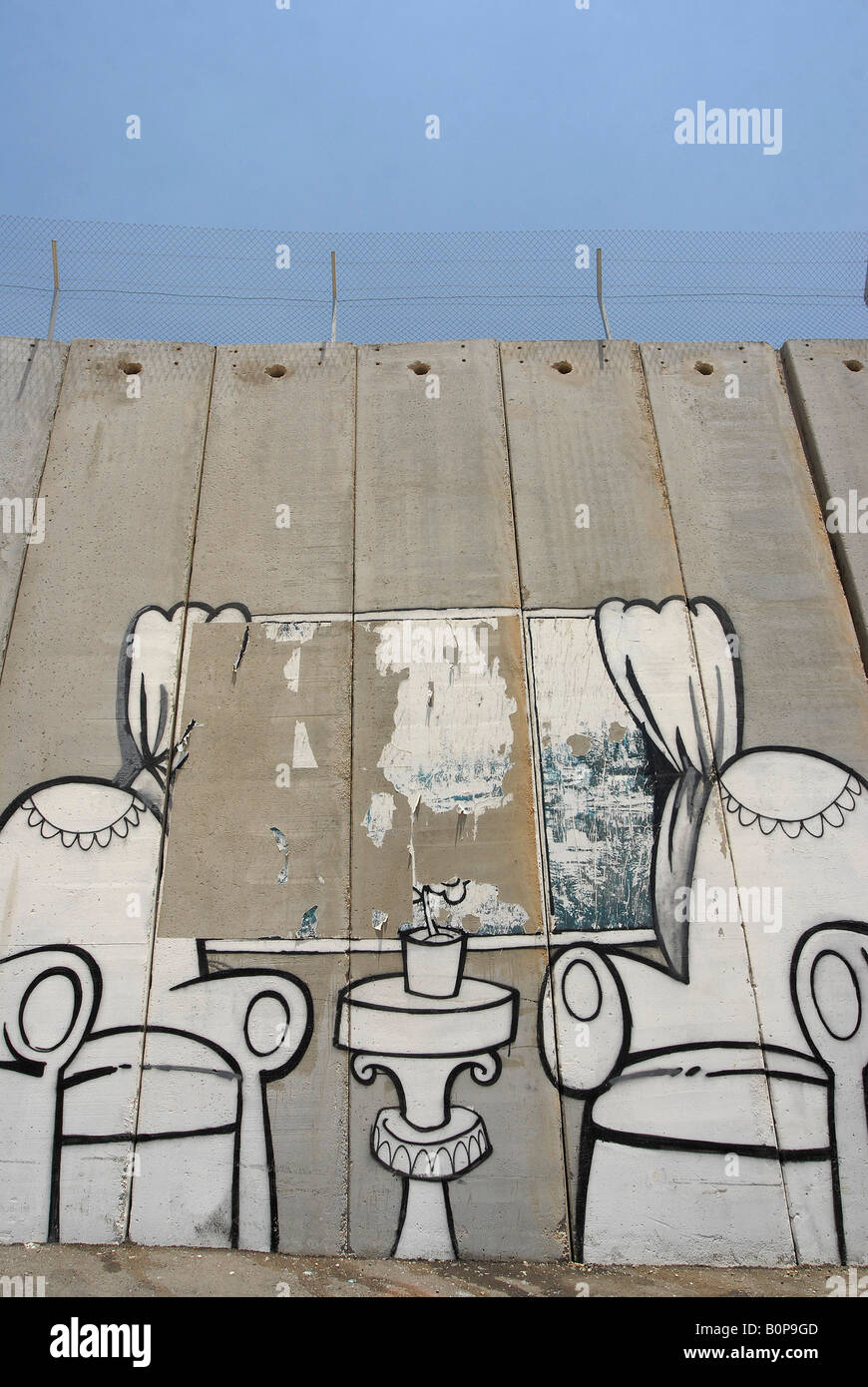 The wall in Bethlehem, Palestine - Stock Image