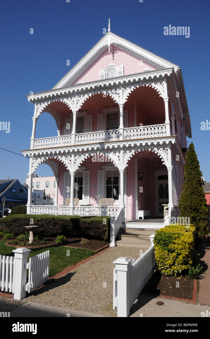 Victorian House, Cape May, New Jersey, USA - Stock Image