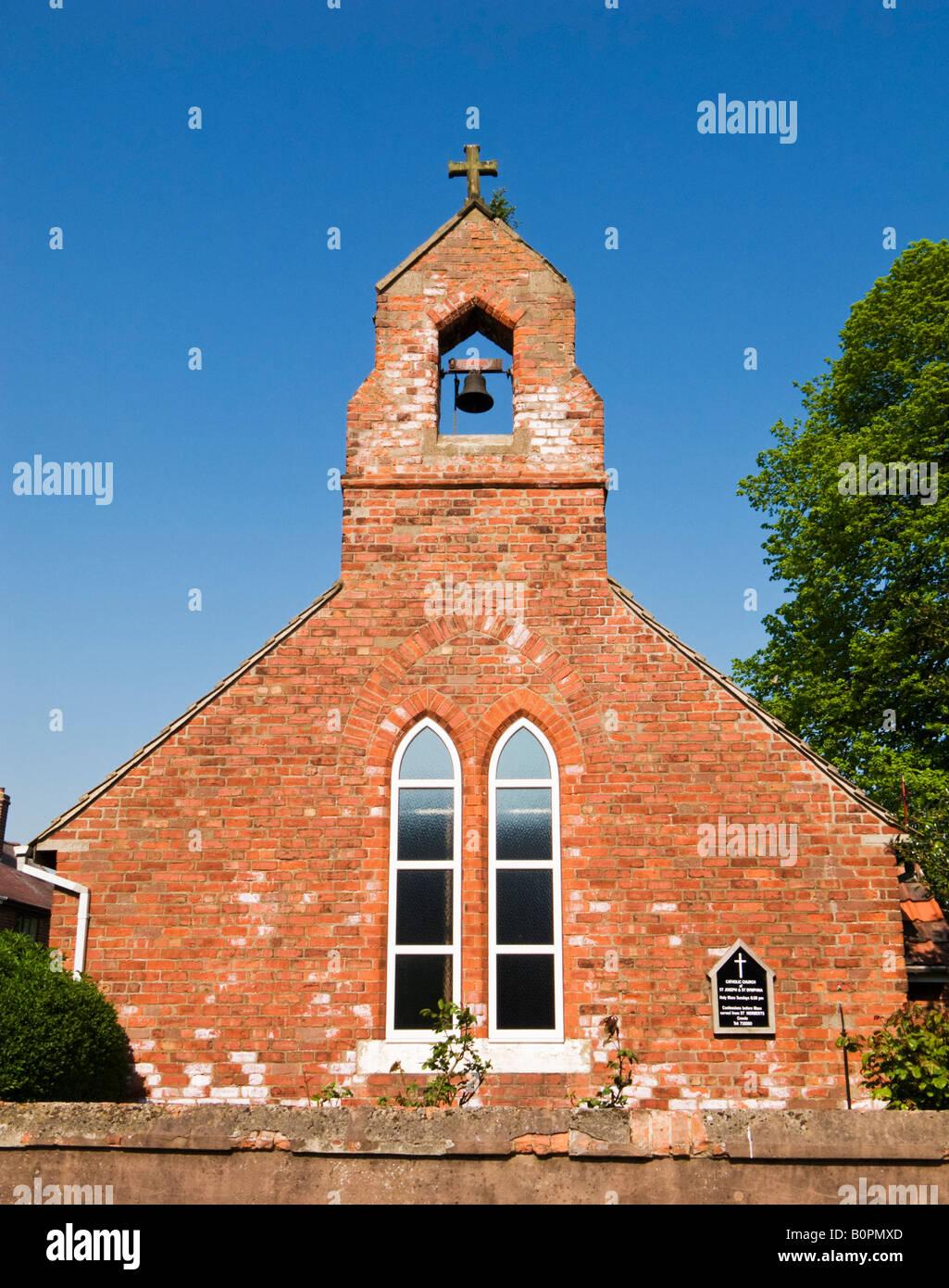 St Joseph and St Dymphna Catholic Church Luddington Isle of Axholme North Lincolnshire England UK - Stock Image