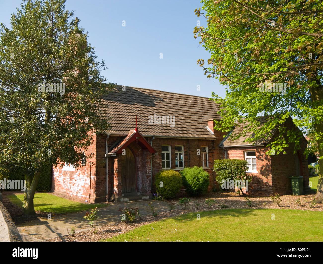 St Joseph and St Dymphna Catholic Church, Luddington, Isle of Axholme, North Lincolnshire, England UK - Stock Image