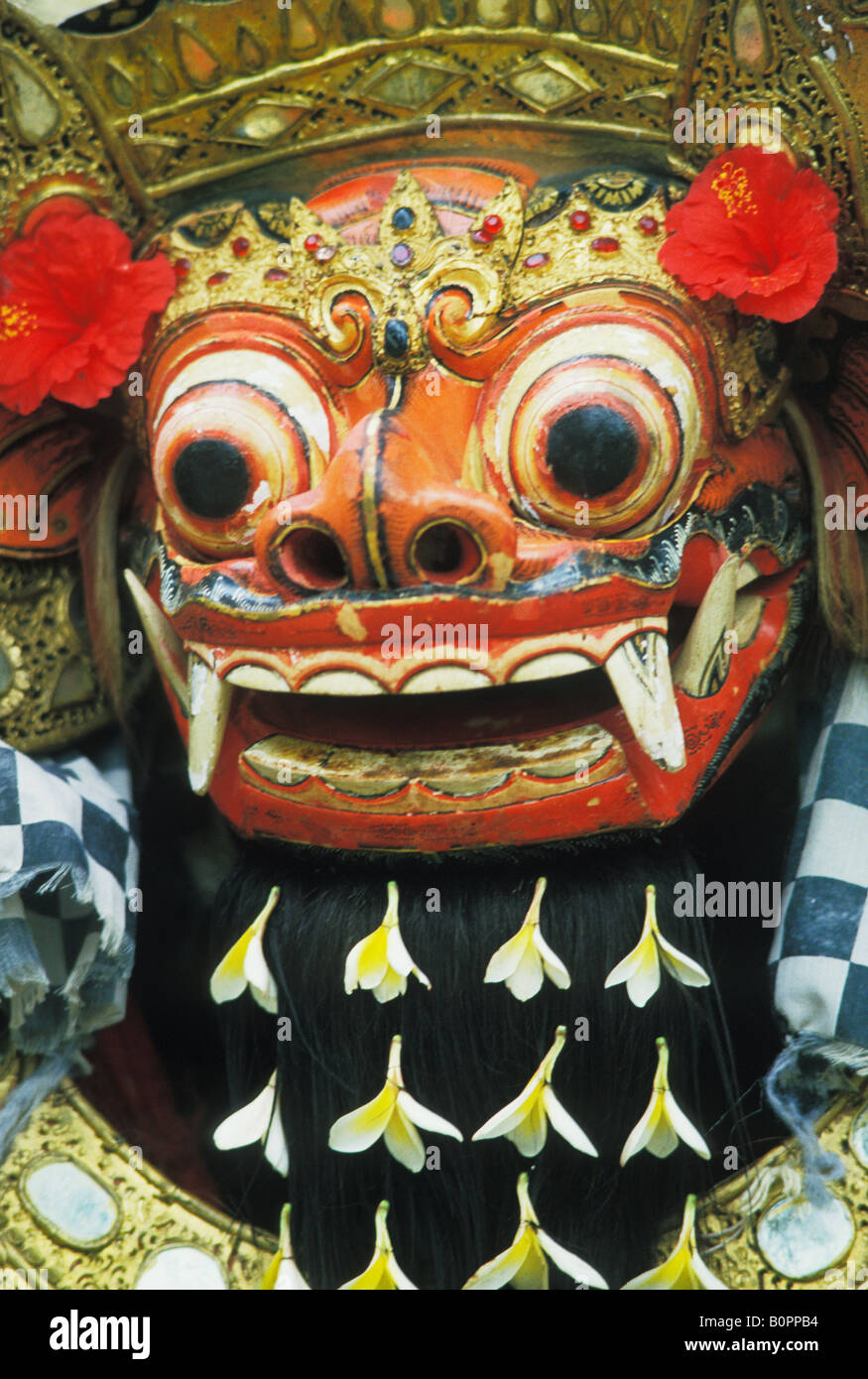 Mask at Barong Dance in Batubulan Bali Indonesia - Stock Image