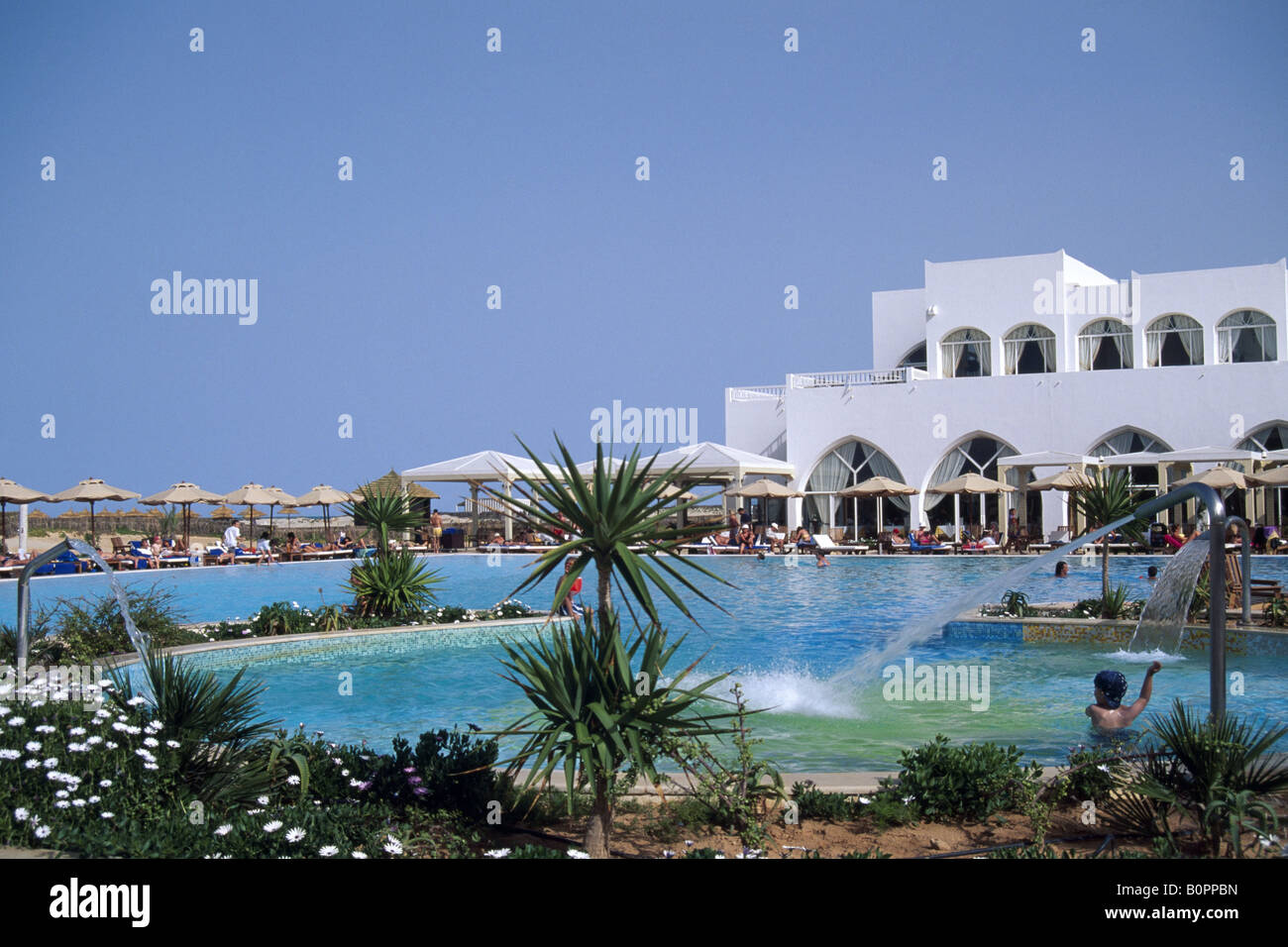 Wonderful Strandhotel Djerba Tunesien   Stock Image