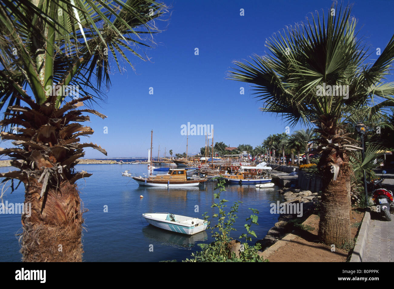 Harbour of Side, Turkey - Stock Image
