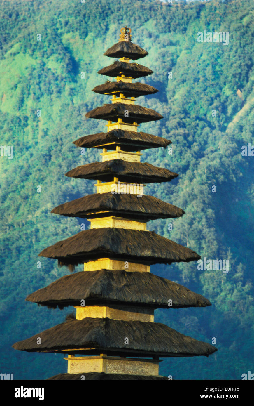 Ulu Danu Temple on Lake Bratan in Bali Indonesia Stock Photo