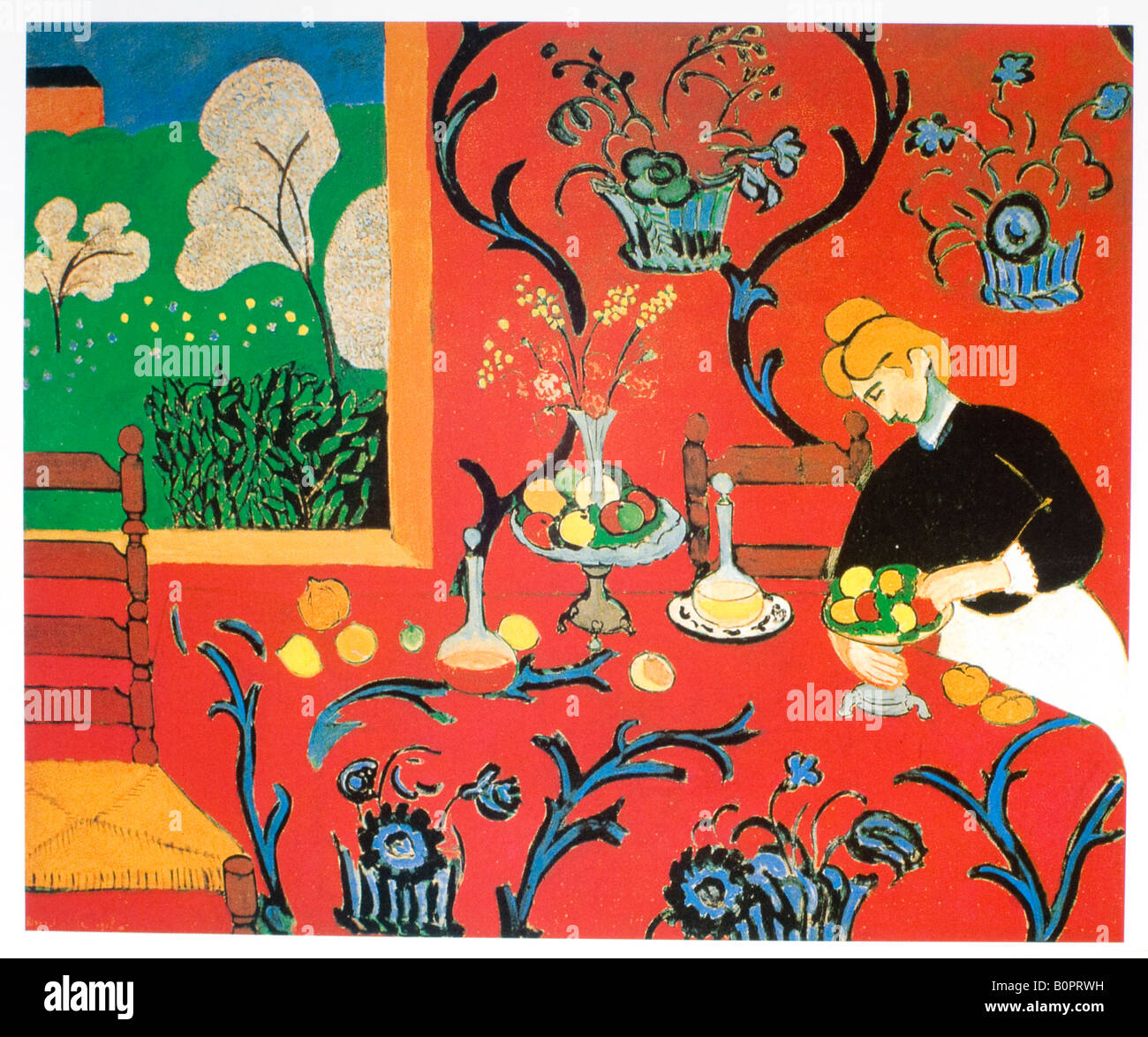 Painting A Dining Room Table Harmony In Red The Red Dining Table 1908 Henri Matisse