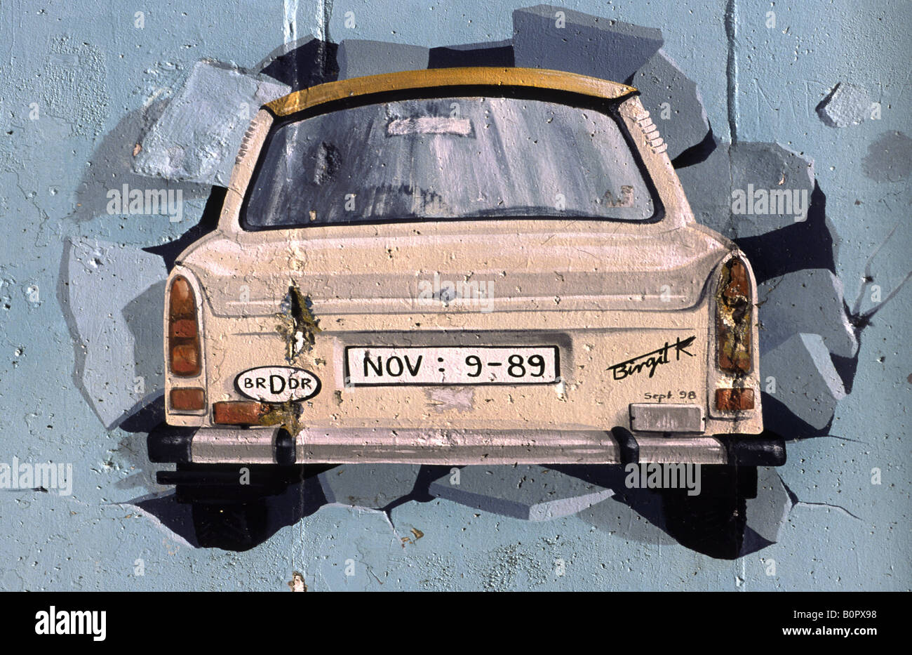 Art on the Berlin wall. Germany. - Stock Image