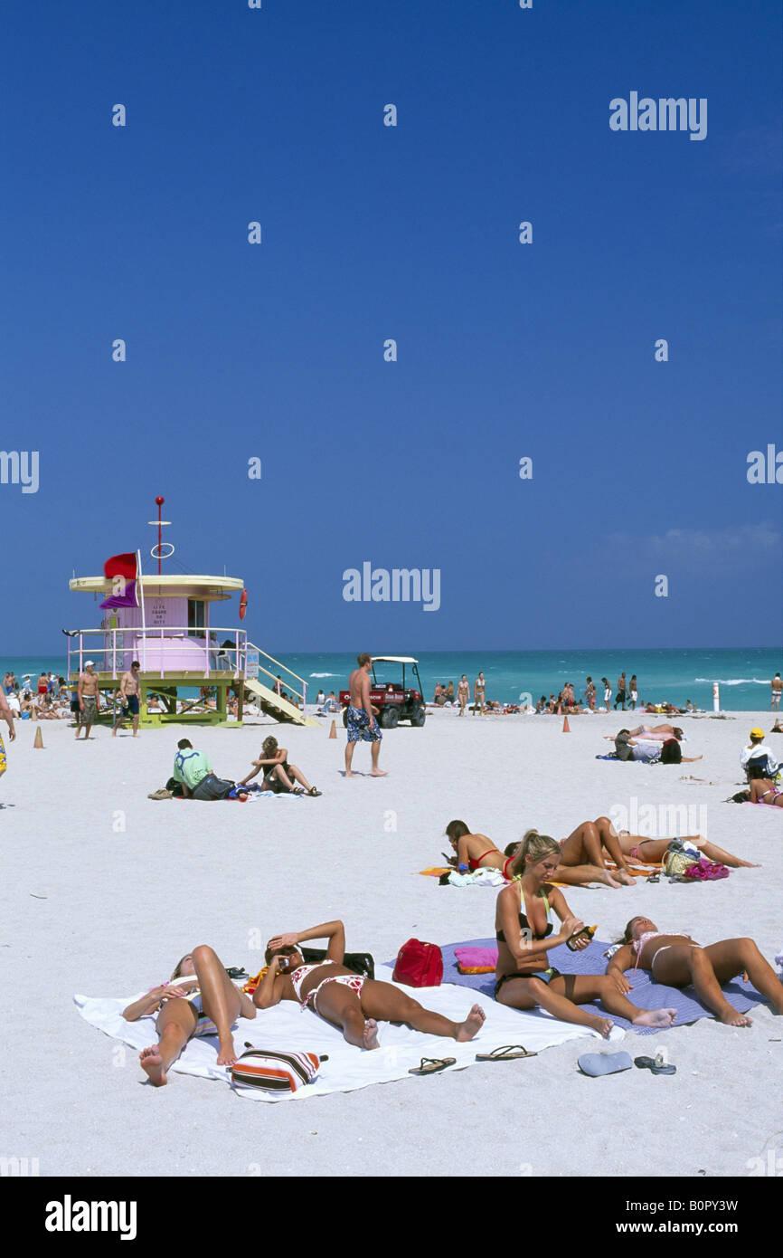 South Beach Miami Beach Miami Florida USA - Stock Image