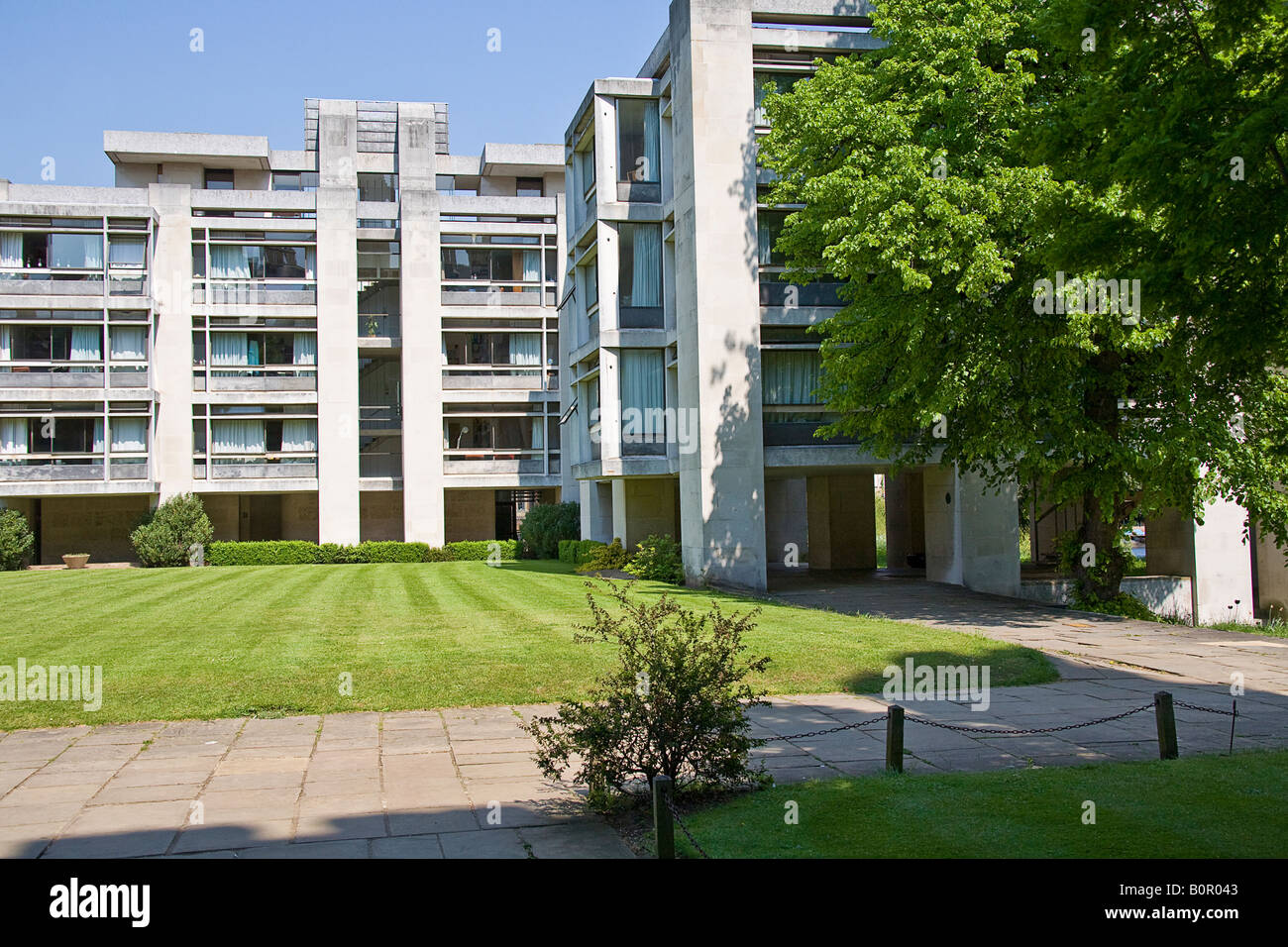 The Cripps Building, St. John's College, Cambridge. - Stock Image