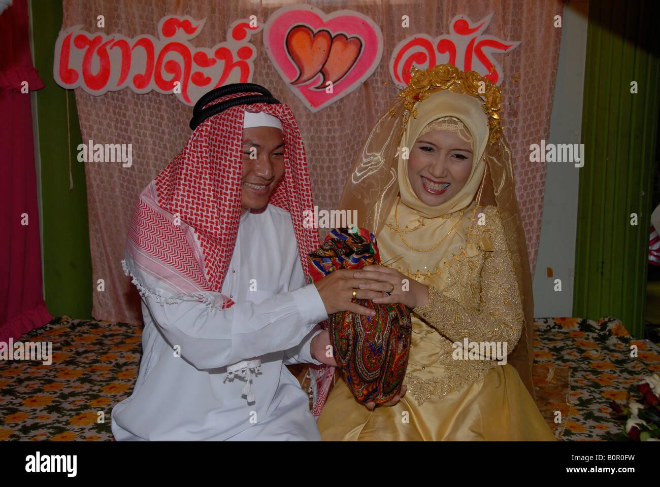 thai muslim wedding ritual - Stock Image