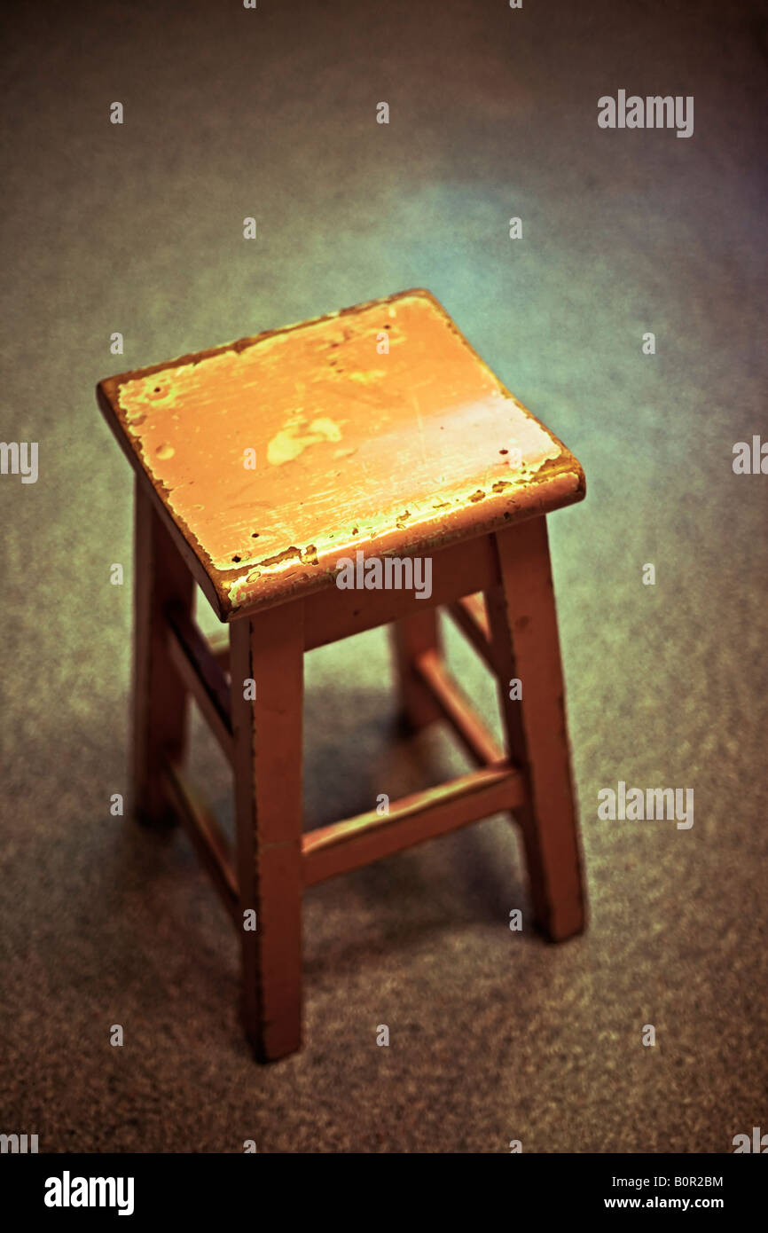 Prime Pink Stool Wooden Old Chipped Paint Stock Photo 17717160 Lamtechconsult Wood Chair Design Ideas Lamtechconsultcom