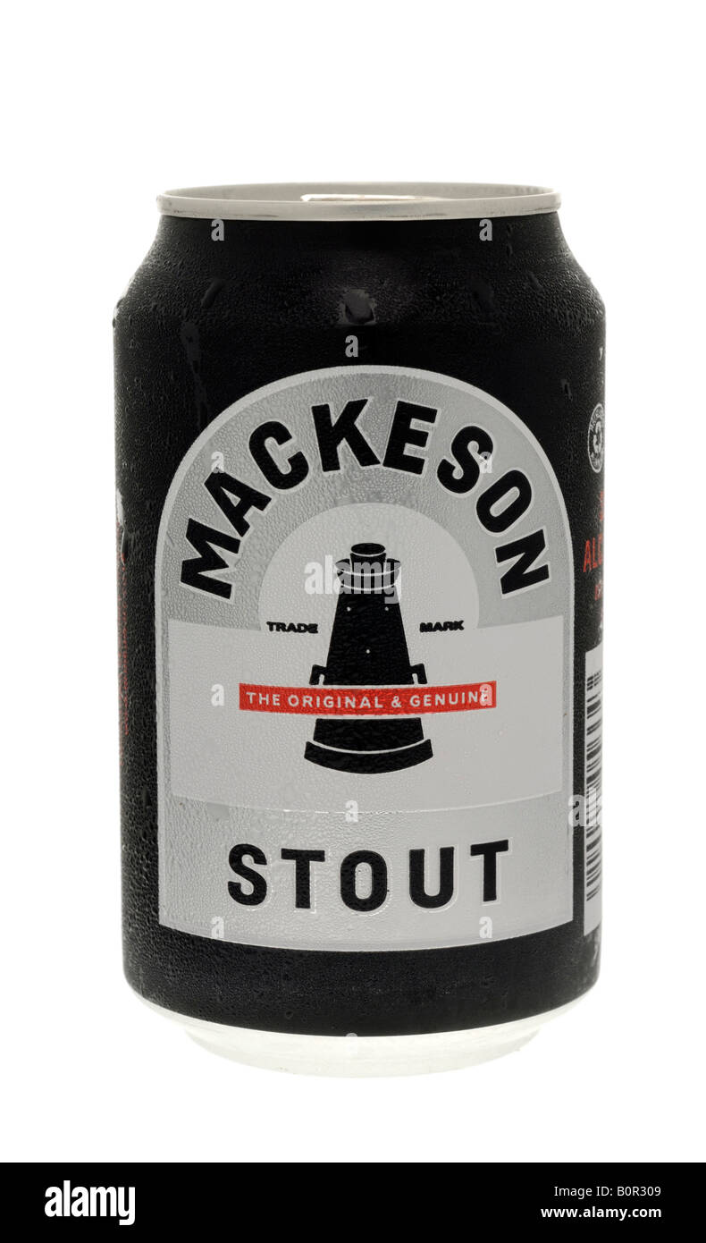 Can of Mackeson Stout - Stock Image
