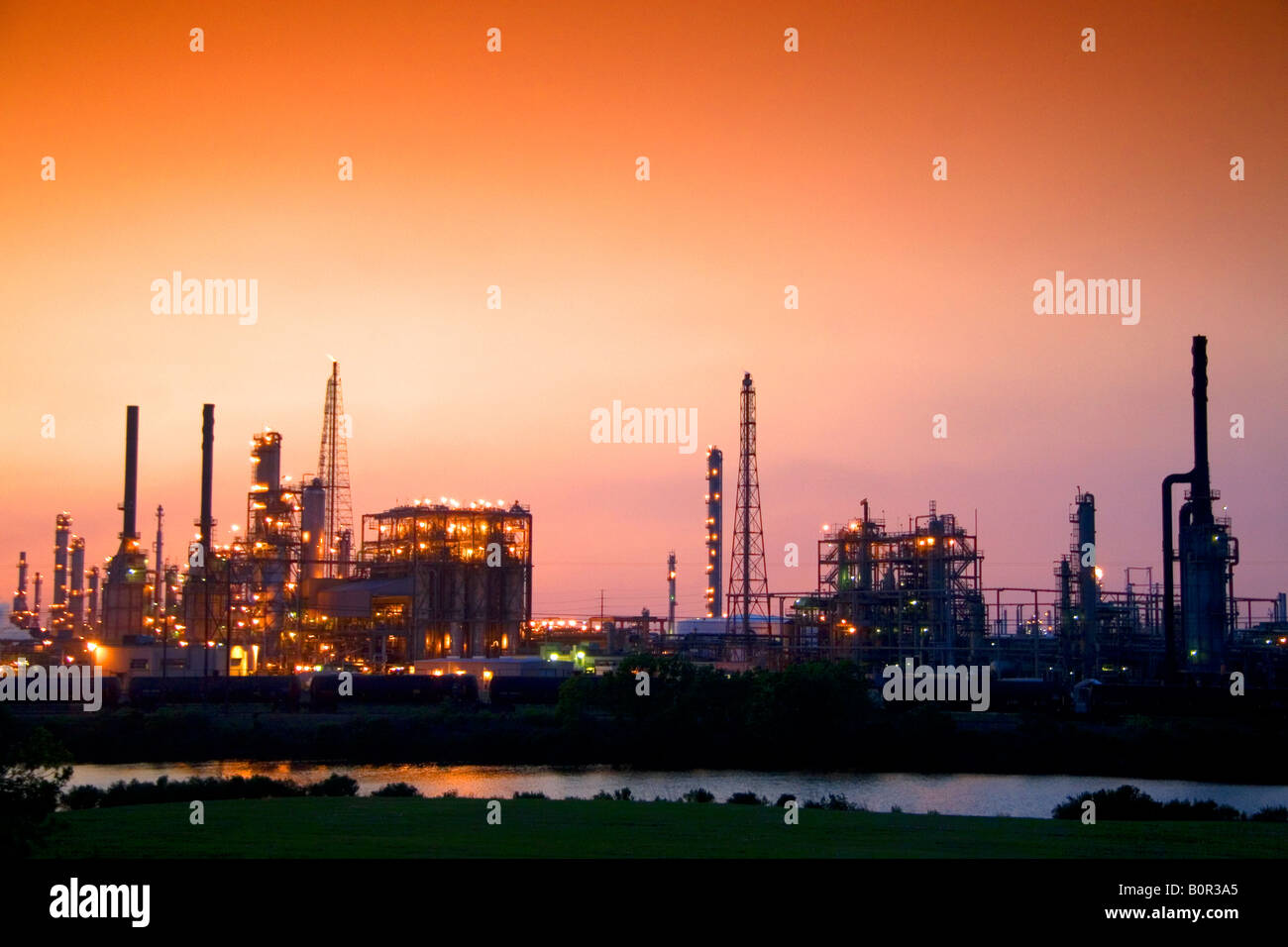 Refinery in Texas City Texas - Stock Image