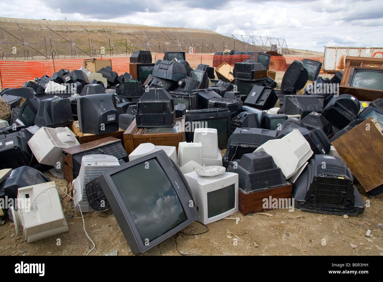 Television and computer monitor recycling at the Ada County Landfill in Boise Idaho - Stock Image