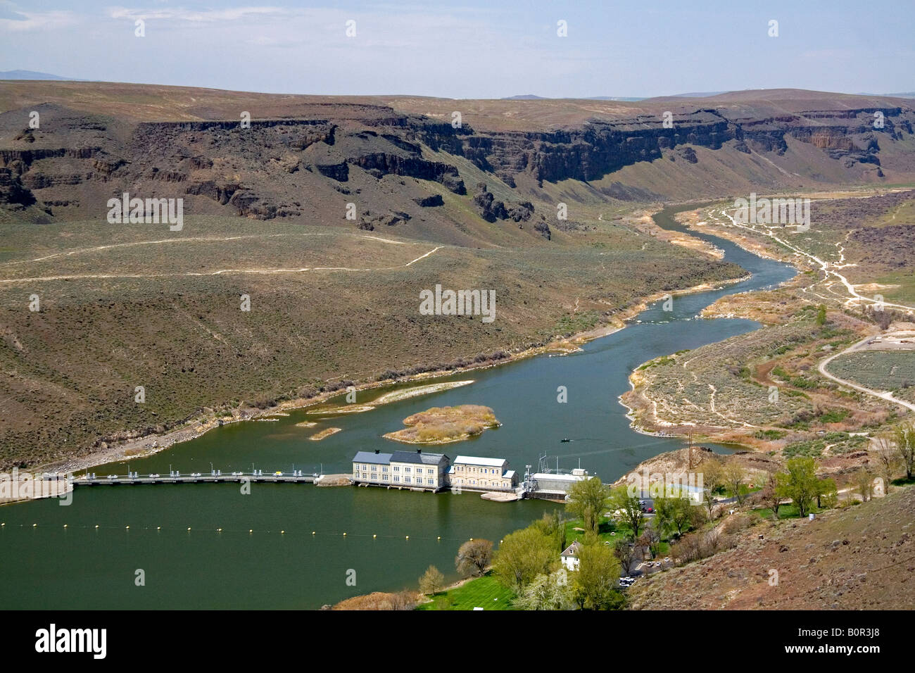 Swan Falls hydroelectric dam on the Snake River in Idaho - Stock Image