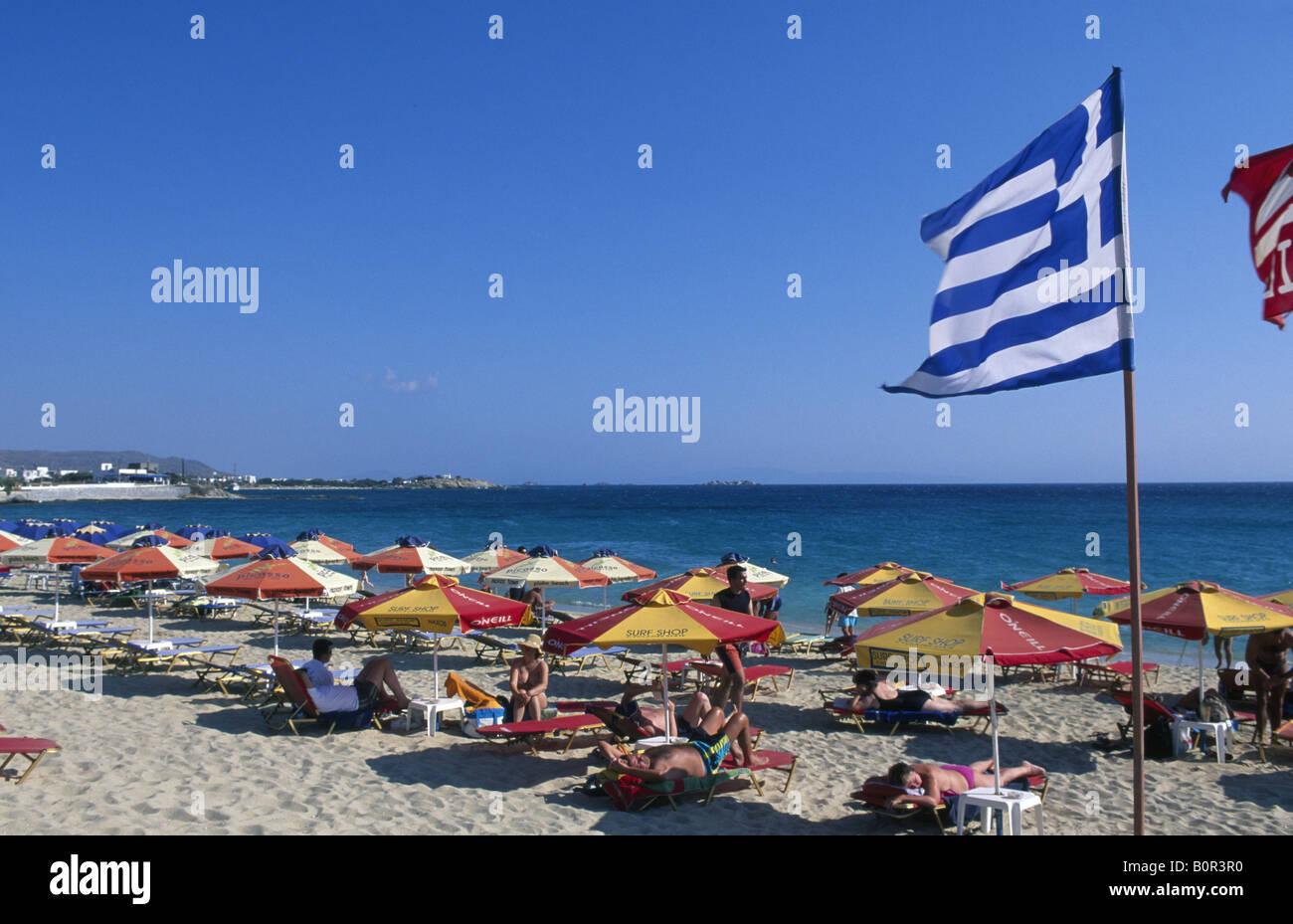 Agios Georgios Naxos Kykladen Griechenland Stock Photo