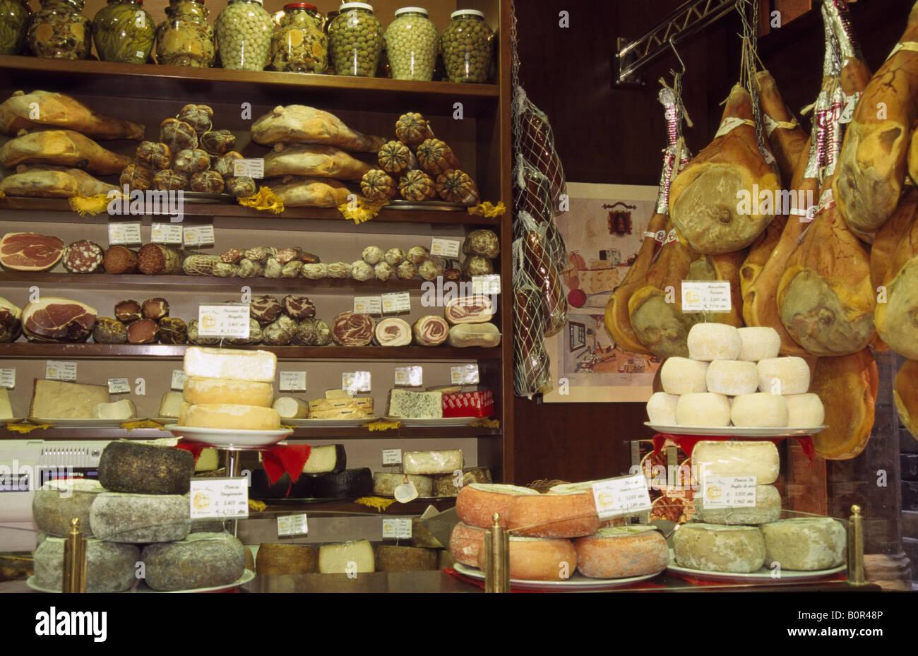 Delicatessen, Bologna, Italy - Stock Image