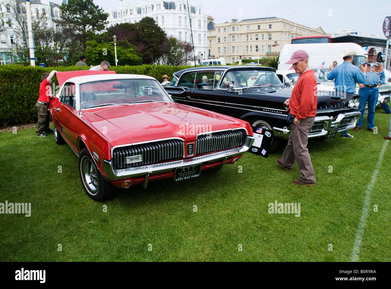 Visitors to Magnificent Motors a classic and vintage car show in ...