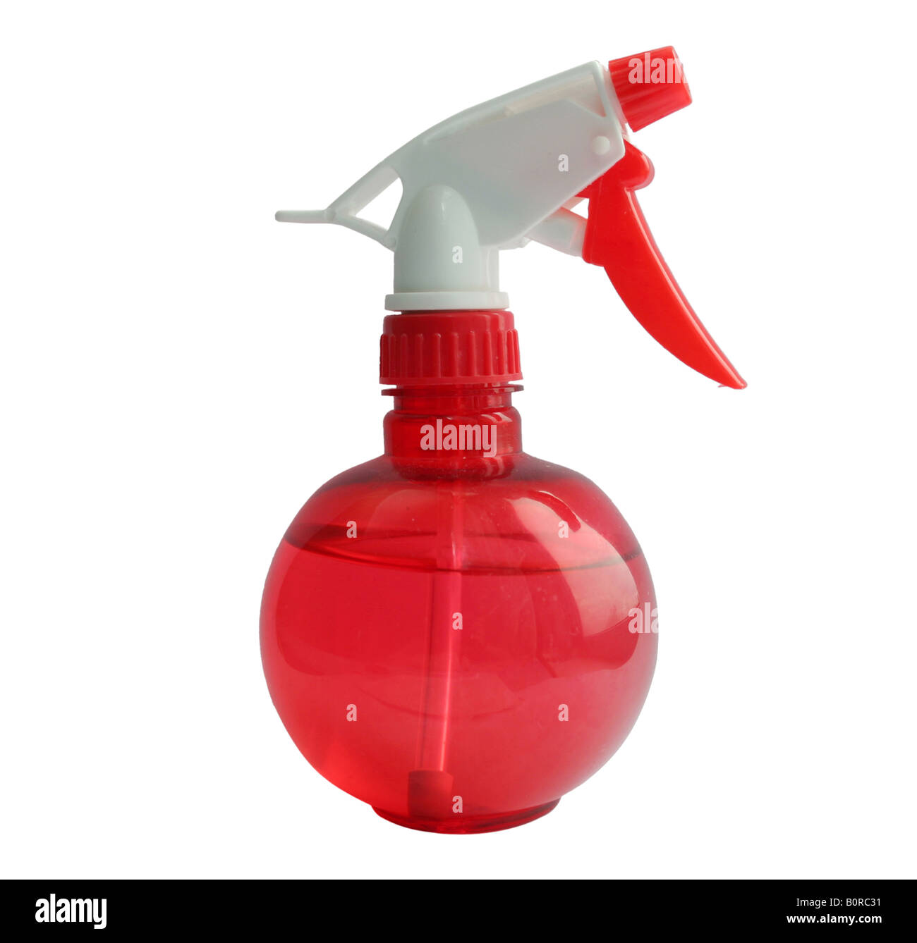 Isolated red atomizer - Stock Image