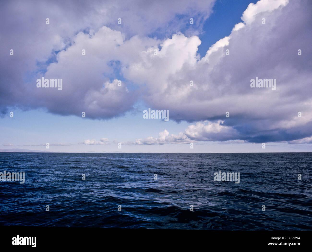 low flying clouds on lake titicaca near island of the sun bolivia - Stock Image