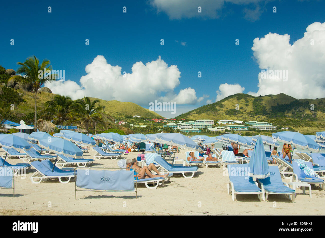 Orient Beach in Saint Martin French Protectorate - Stock Image
