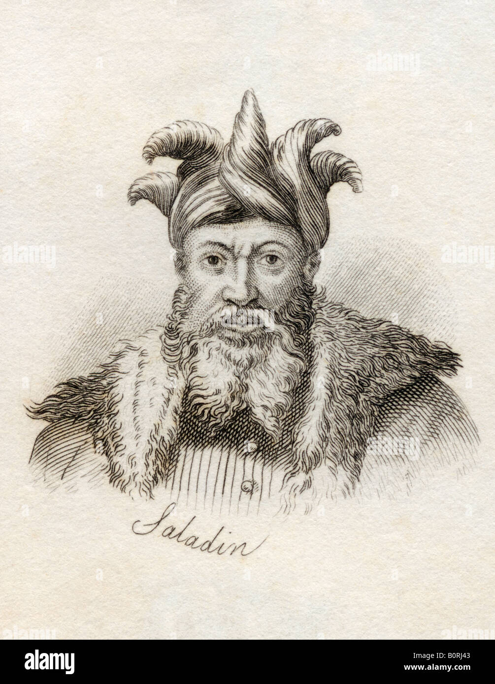 Salah ad Din Yusuf ibn Ayyub Saladin 1137 1193AD Sultan of Egypt and Syria Muslim - Stock Image