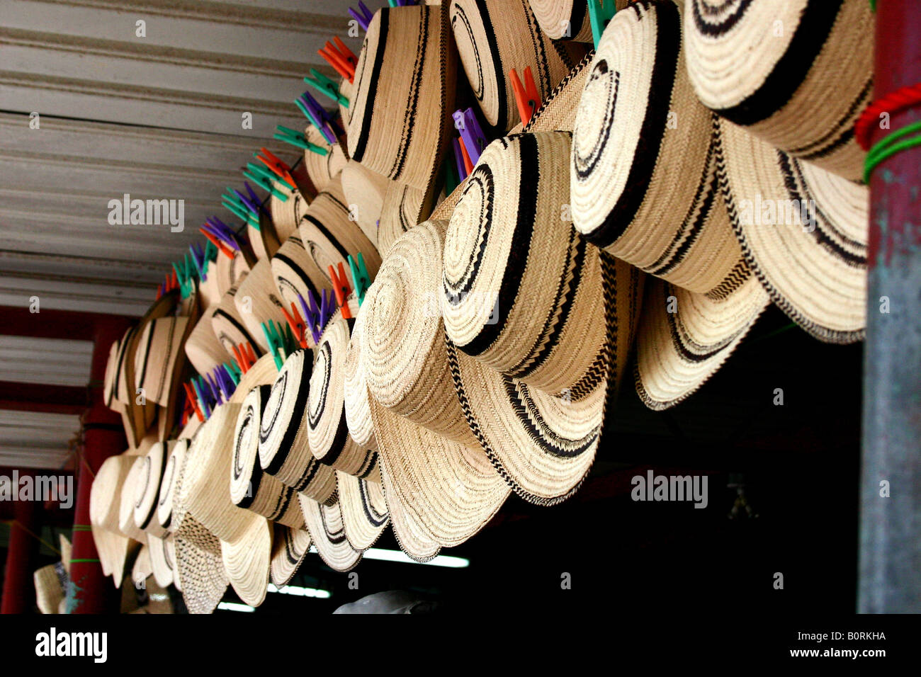 8d63bc7fc2f2e Traditional rural farmer hat or Montuno Hat from Panama Stock Photo ...